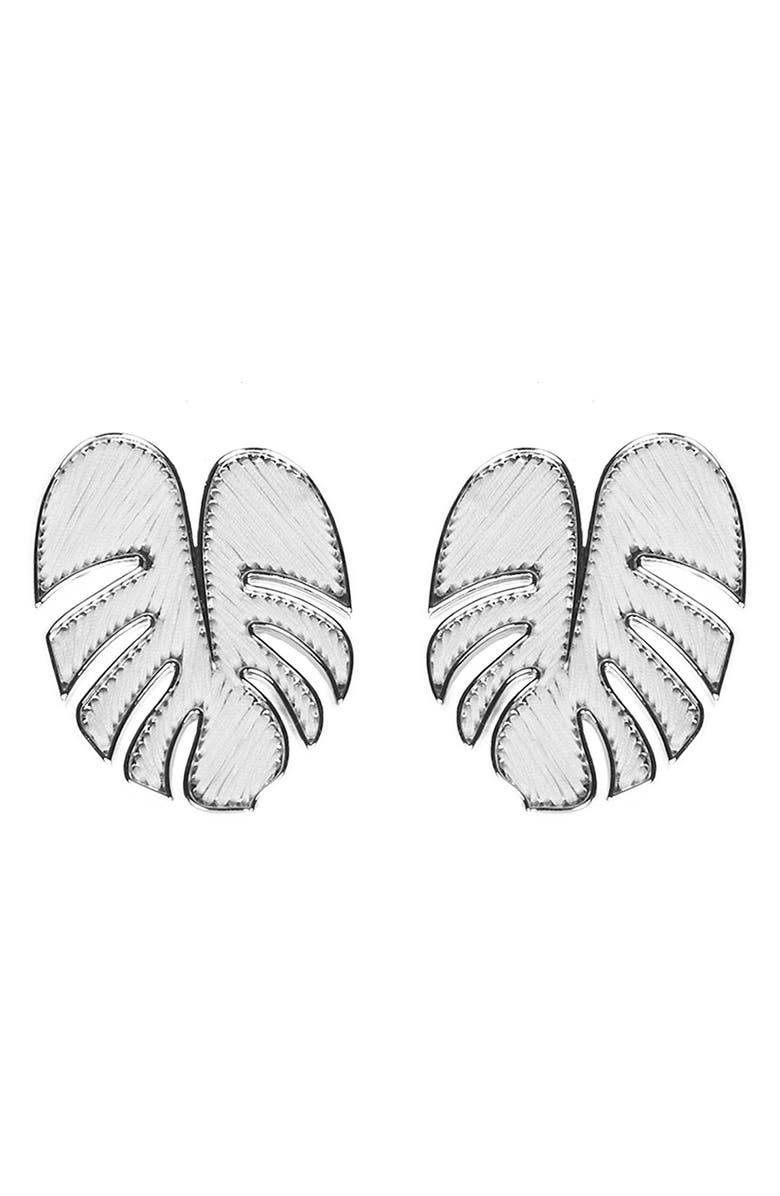 MIGNONNE GAVIGAN Palmer Stud Earrings, Main, color, WHITE