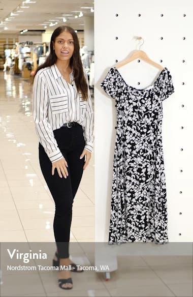 Floral A-Line Midi Dress, sales video thumbnail