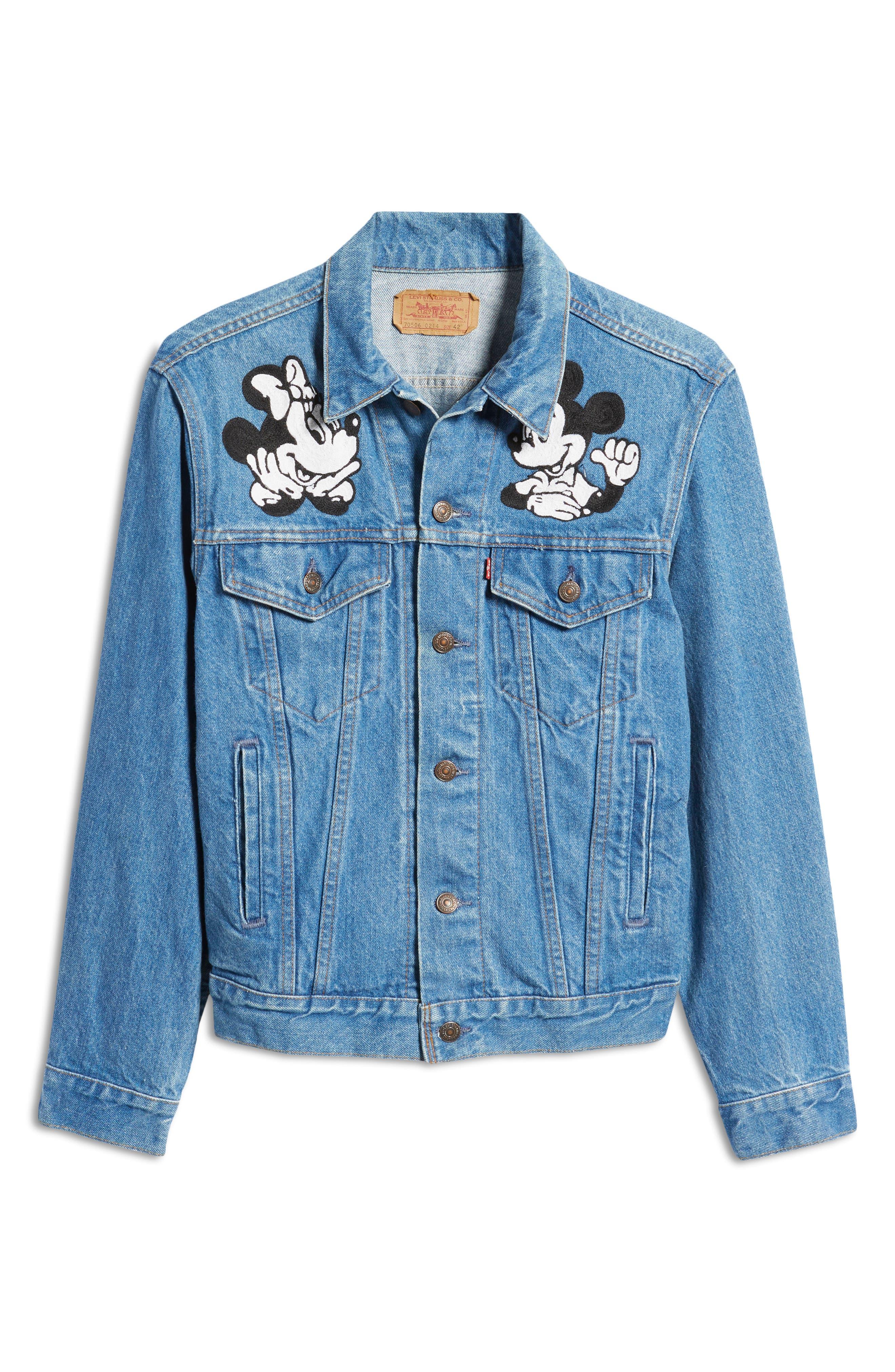 X Levi'S Unisex Reworked Vintage Mickey & Minnie Denim Jacket