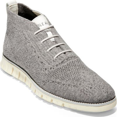 Cole Haan Zerogrand Stitchlite Knitted Wool Chukka Boot, Grey