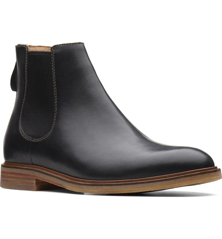 CLARKS<SUP>®</SUP> Clarkdale Gobi Chelsea Boot, Main, color, BLACK LEATHER