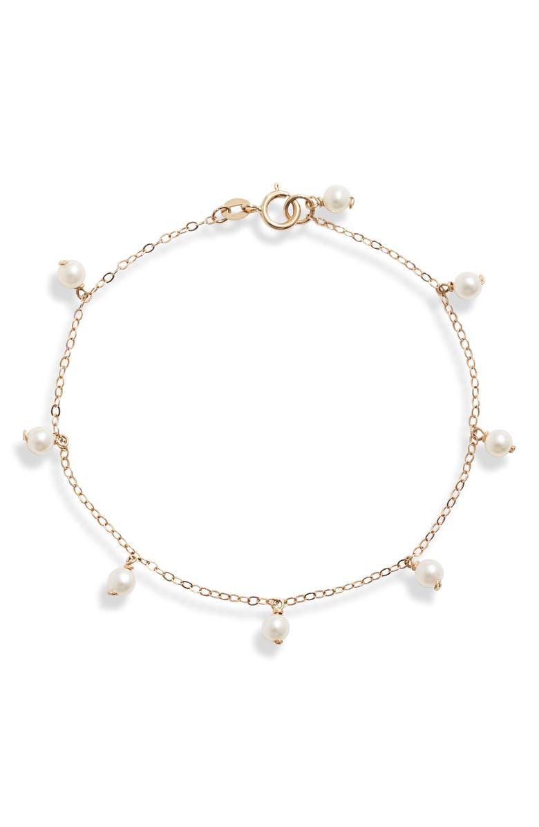 POPPY FINCH Pearl Station Bracelet, Main, color, 710
