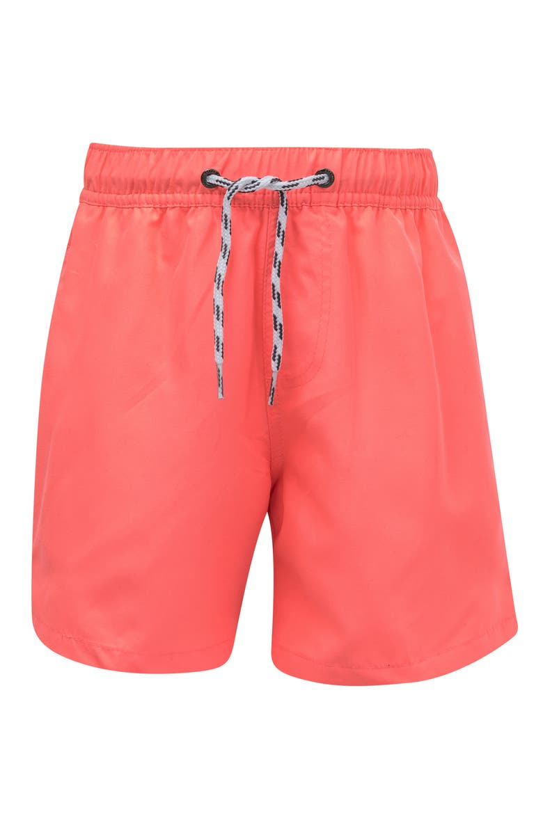 SNAPPER ROCK Neon Coral Hybrid Swim Trunks, Main, color, BRIGHT ORANGE