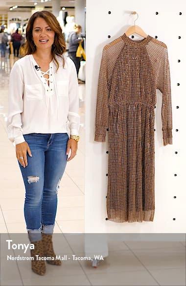 Alexandra Shimmer Plaid Long Sleeve Dress, sales video thumbnail