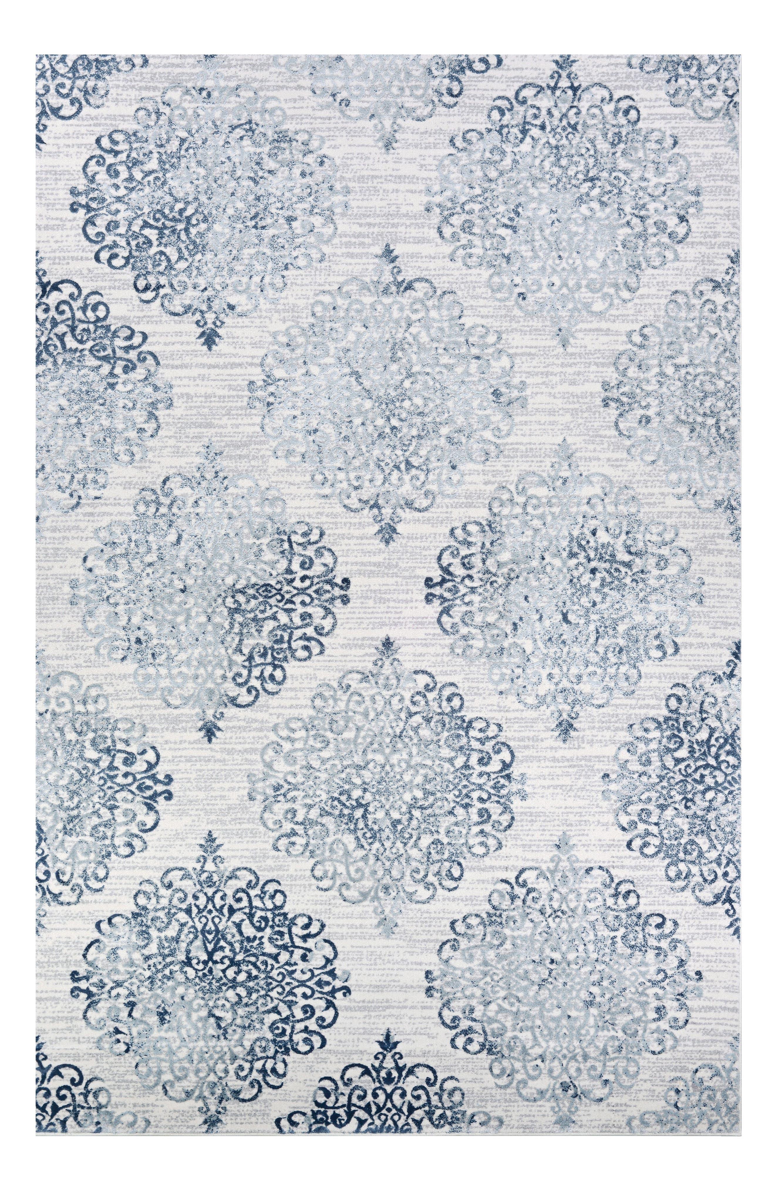 Calinda Collection Marlowe Rug, Main, color, STEEL BLUE - IVORY