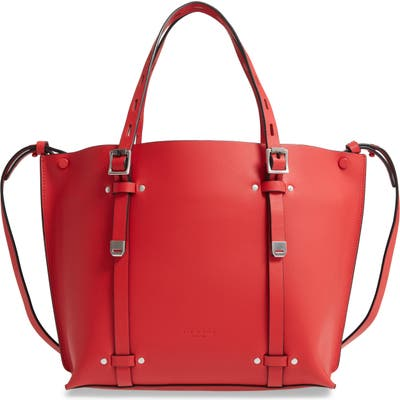 Rag & Bone Mini Field Leather Tote - Red (Nordstrom Exclusive)