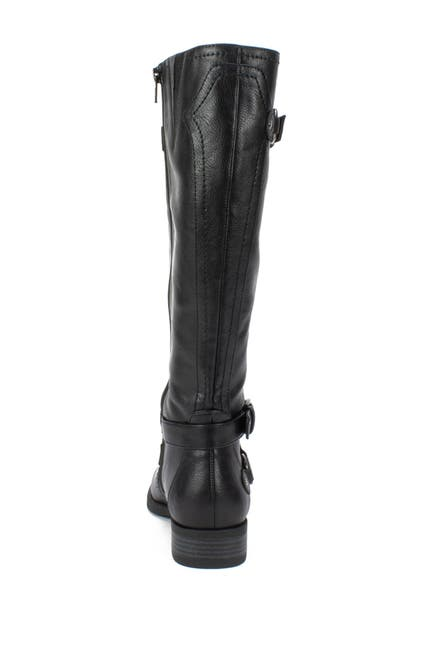 Image of White Mountain Footwear Loyal Tall Faux Leather Riding Boot - Wide Calf