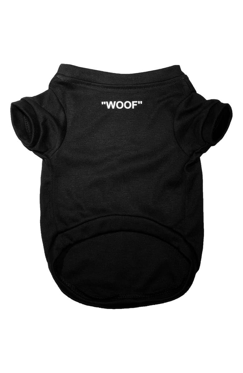 PAWMAIN Woof Pet Shirt, Main, color, BLACK