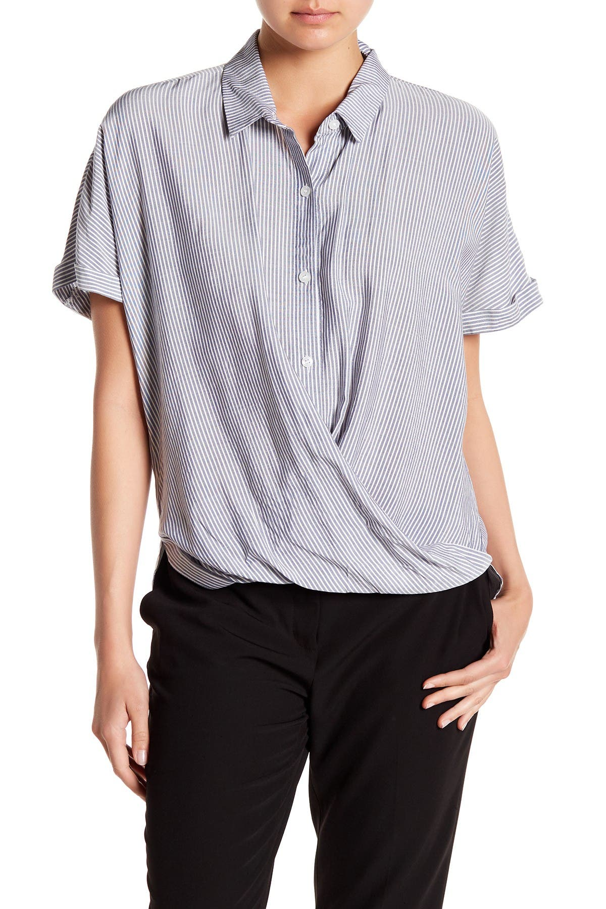Image of BCBGeneration Wrap Hem Dolman Sleeve Shirt