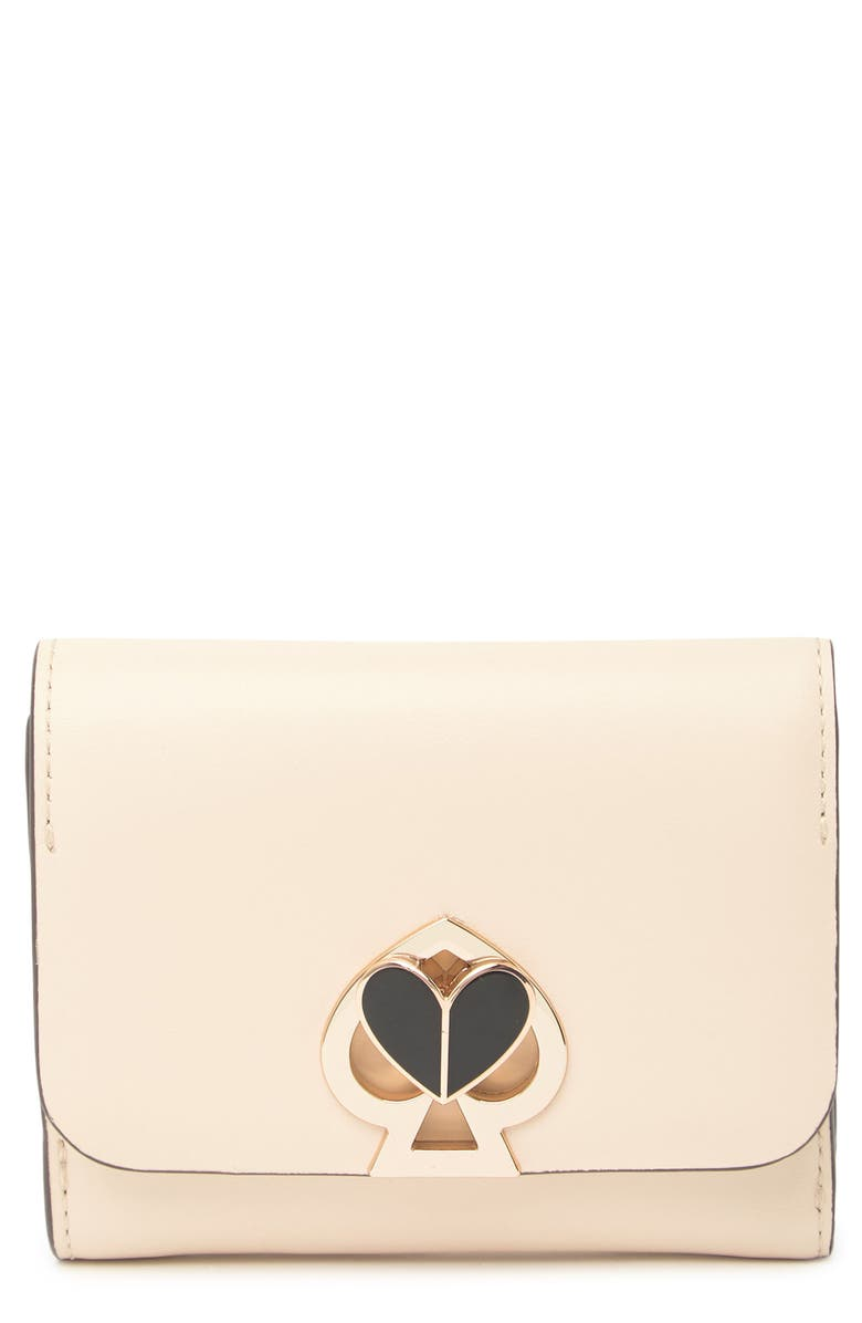 KATE SPADE NEW YORK small trifold wallet, Main, color, HIBTEAMULT
