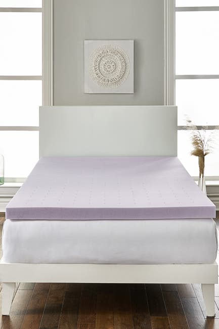 "Image of Rio Home Full Loftworks 2"" Lavender infused Deep Sleep Therapy Extra Soft Mattress Foam Mattress Topper"
