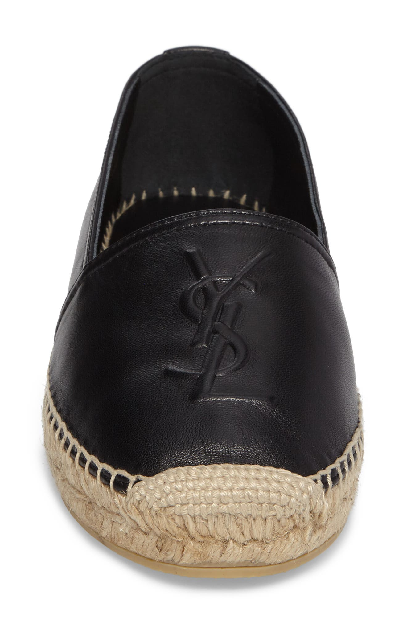 ,                             Logo Espadrille,                             Alternate thumbnail 4, color,                             BLACK