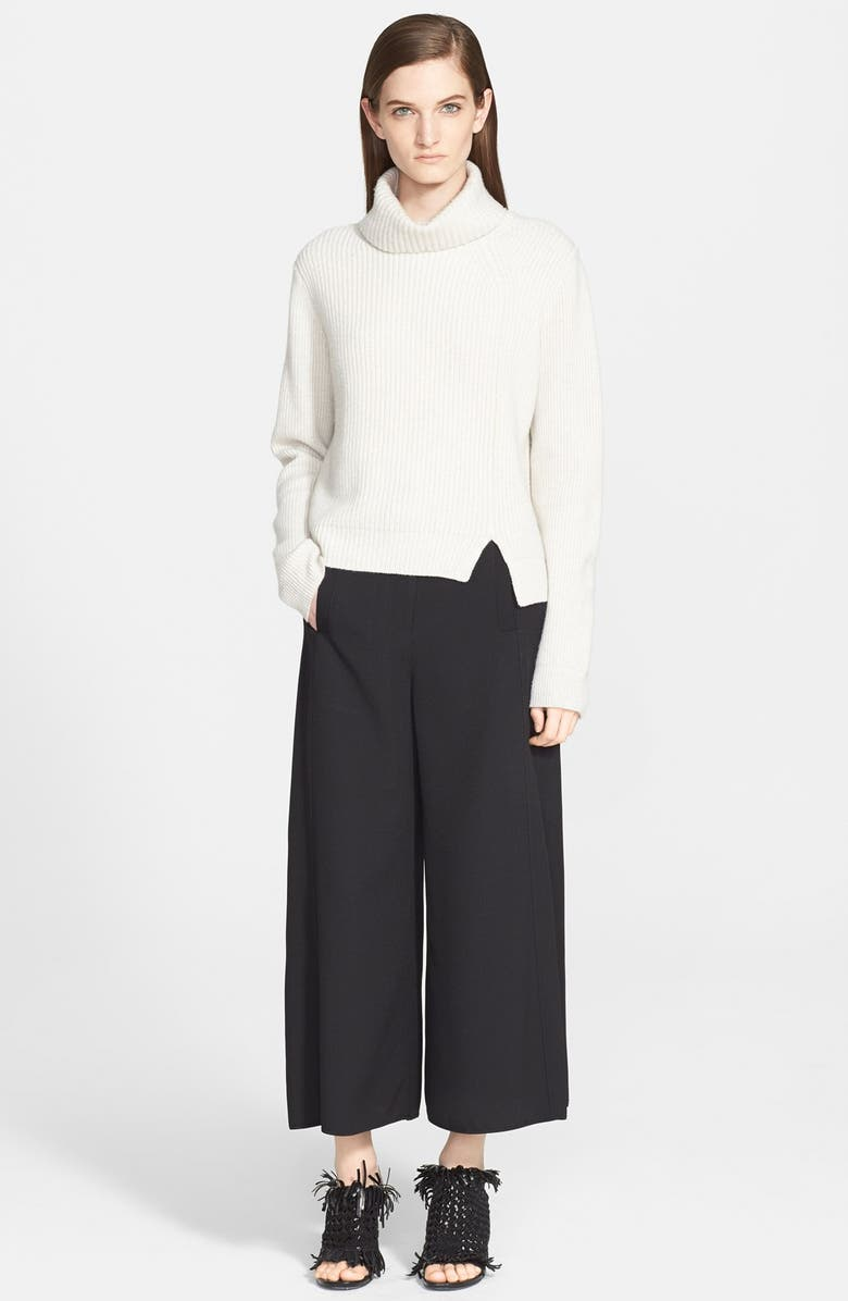 PROENZA SCHOULER Ribbed Wool & Cashmere Turtleneck Sweater, Main, color, 101