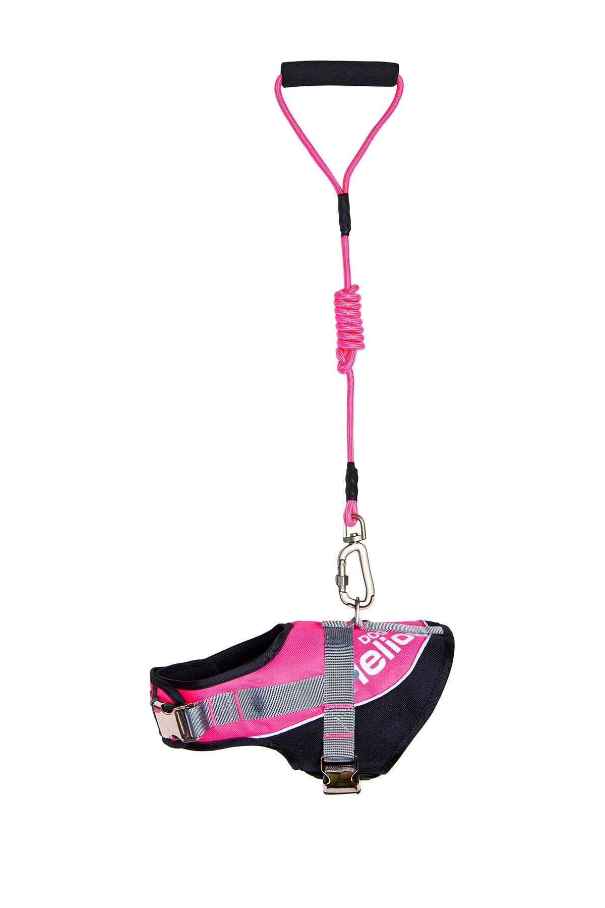 Image of PETKIT Small Pink Helios Bark-Mudder Easy Tension Reflective Endurance 2-in-1 Adjustable Dog Leash & Harness