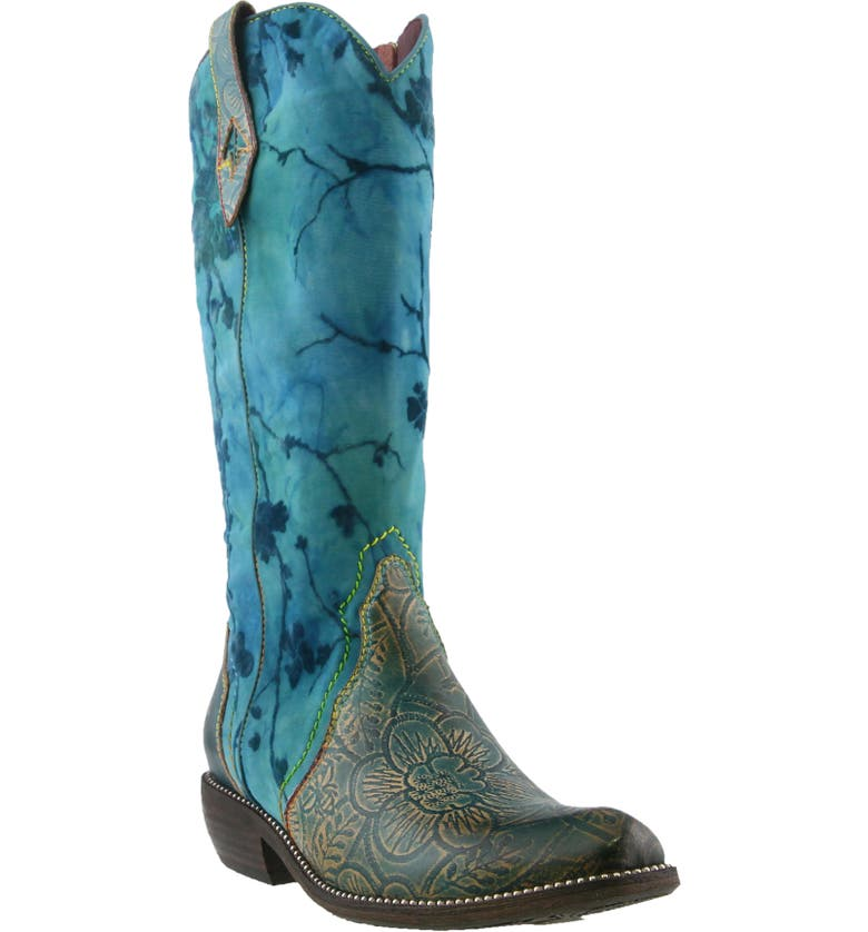 L'ARTISTE Laretilyn Western Boot, Main, color, TURQUOISE