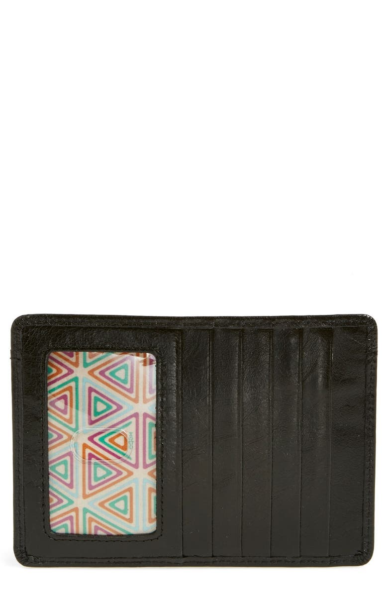 HOBO Euro Slide Credit Card & Passport Case, Main, color, BLACK