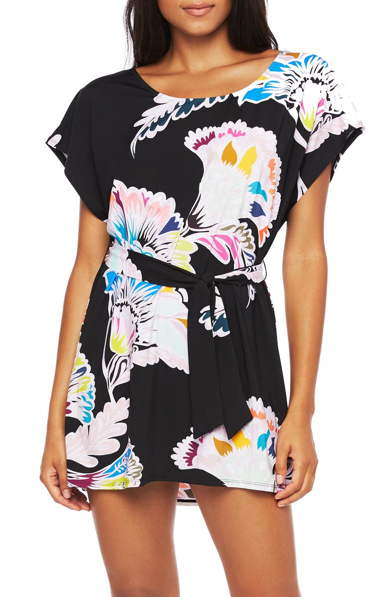 TRINA TURK Seychelles Floral Cover-Up Tunic, Main, color, MLT
