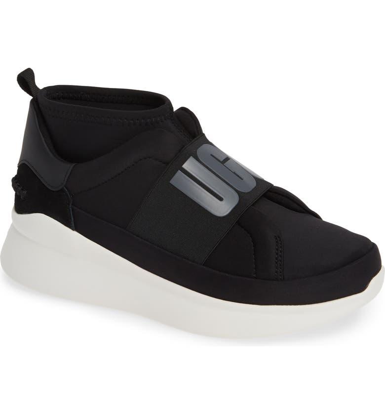 UGG<SUP>®</SUP> Neutra Sock Sneaker, Main, color, BLACK