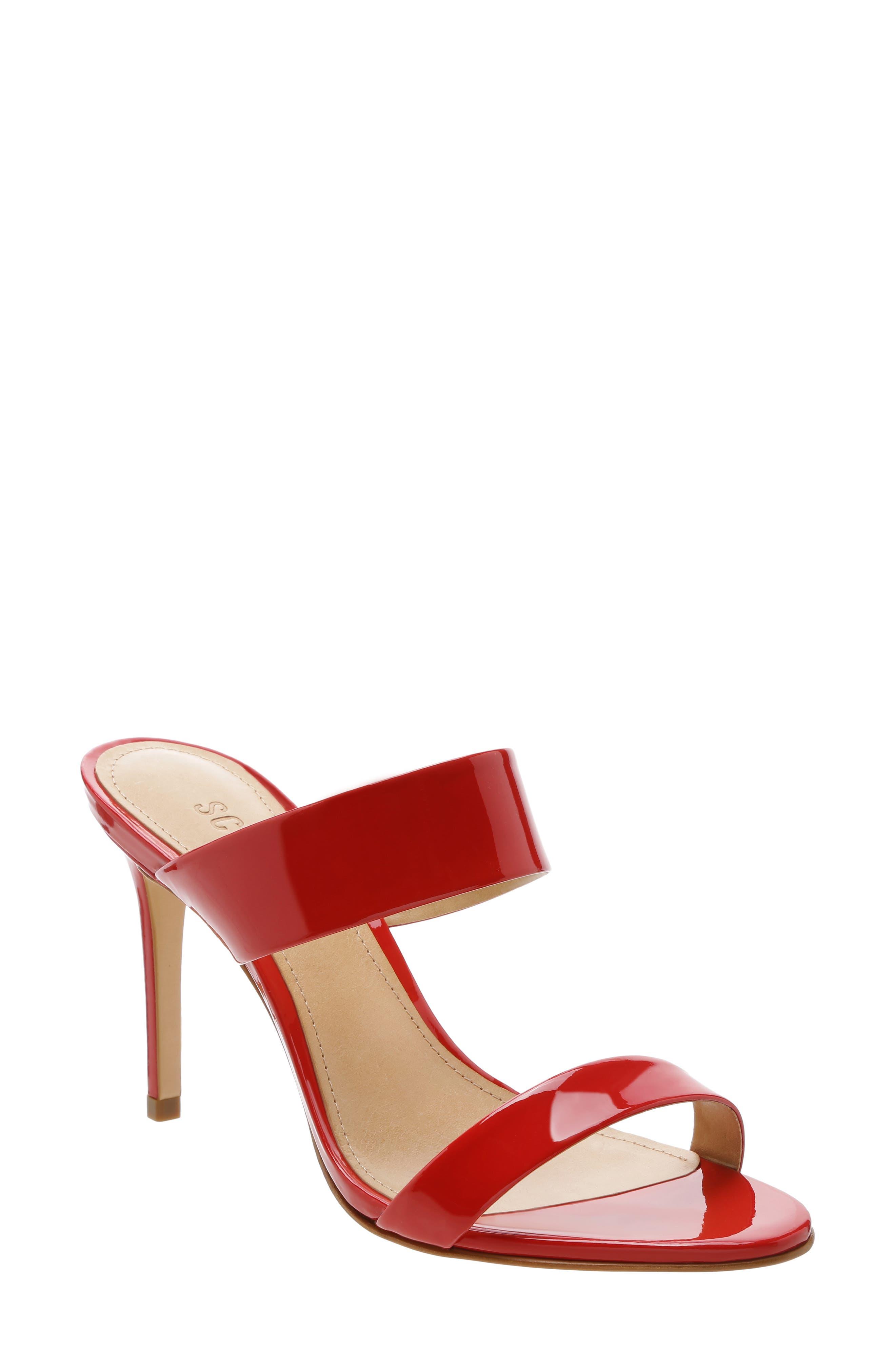 Schutz Leia Stiletto Slide Sandal, Red