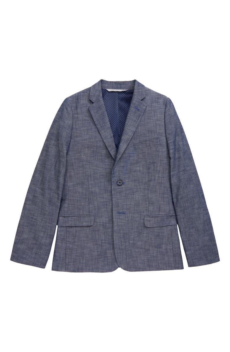 NORDSTROM Chambray Sport Coat, Main, color, CHAMBRAY