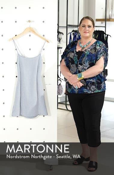 Gingham Pinafore Minidress, sales video thumbnail