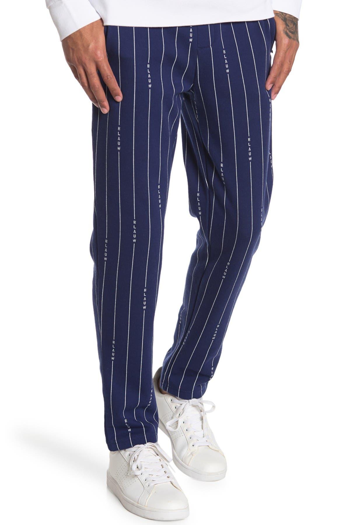 Image of Scotch & Soda Signature Pinstripe Print Sweatpants
