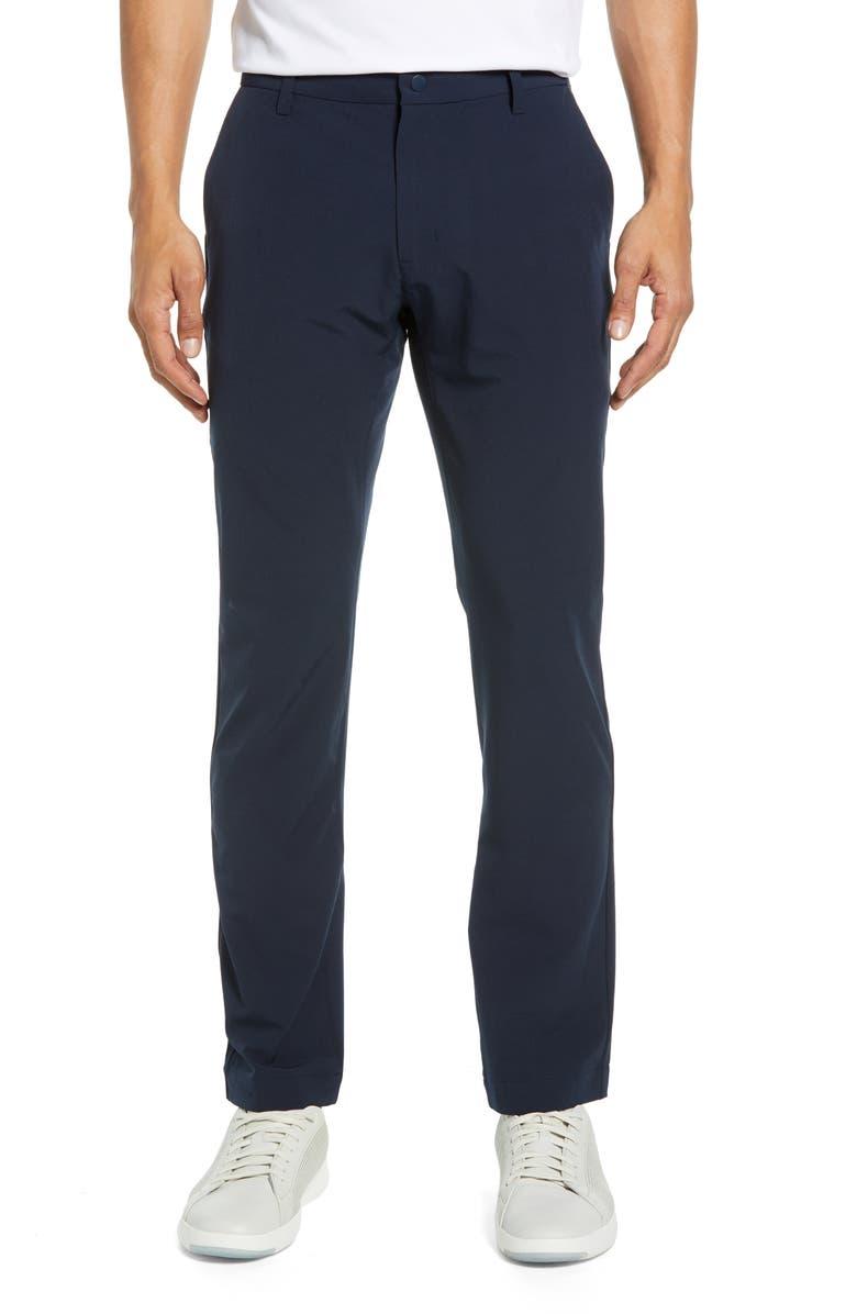 CUTTER & BUCK Bainbridge Straight Leg Performance Pants, Main, color, NAVY BLUE