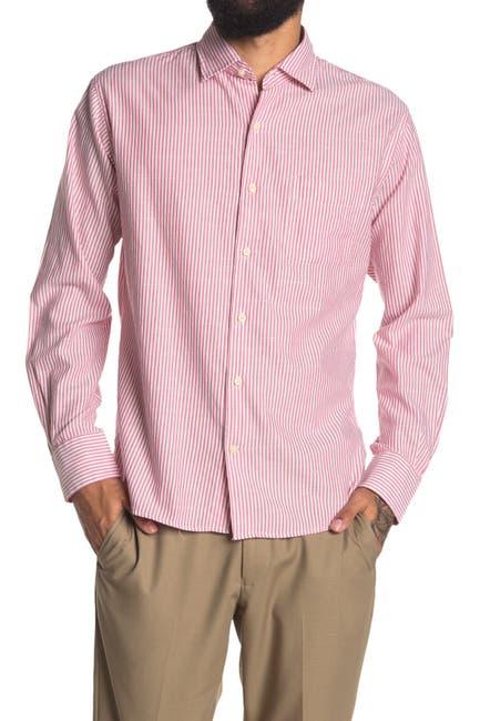 Image of Peter Millar Seaside Stripe Print Regular Fit Shirt