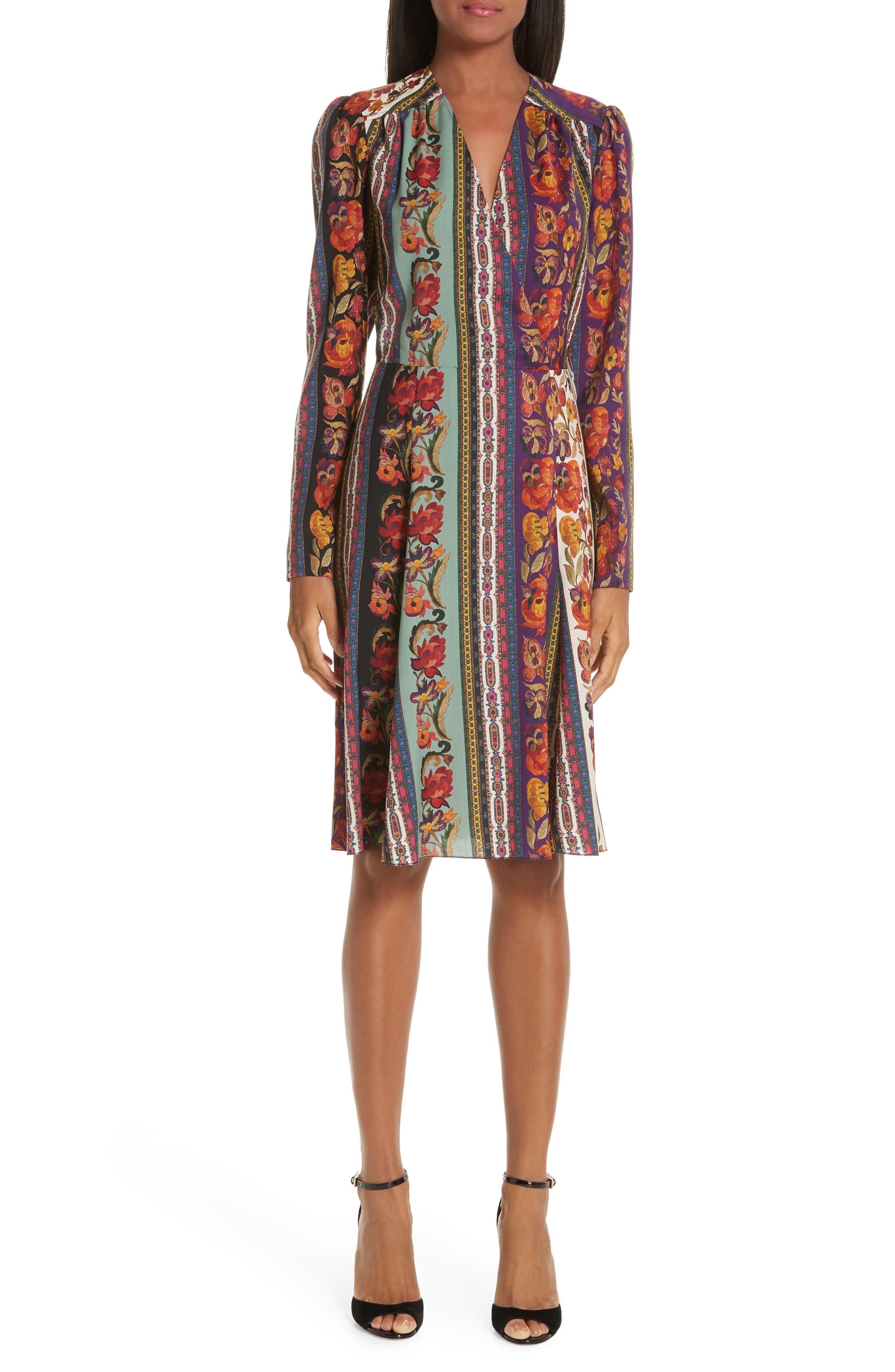 Etro Rocking Bloom Print Wool Dress