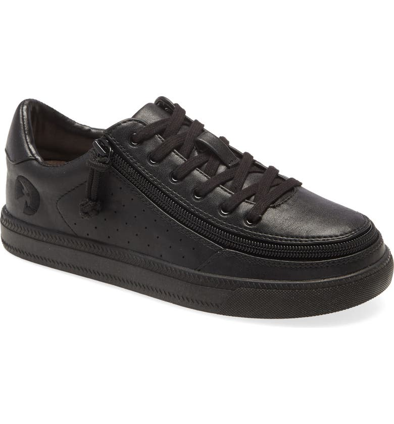 BILLY FOOTWEAR Classic Lo Luxe Leather Sneaker, Main, color, BLACK/ BROWN
