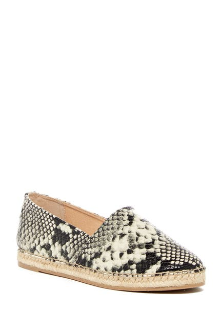 Image of CIRCUS BY SAM EDELMAN Laila Snake Embossed Faux Leather Espadrille Flat