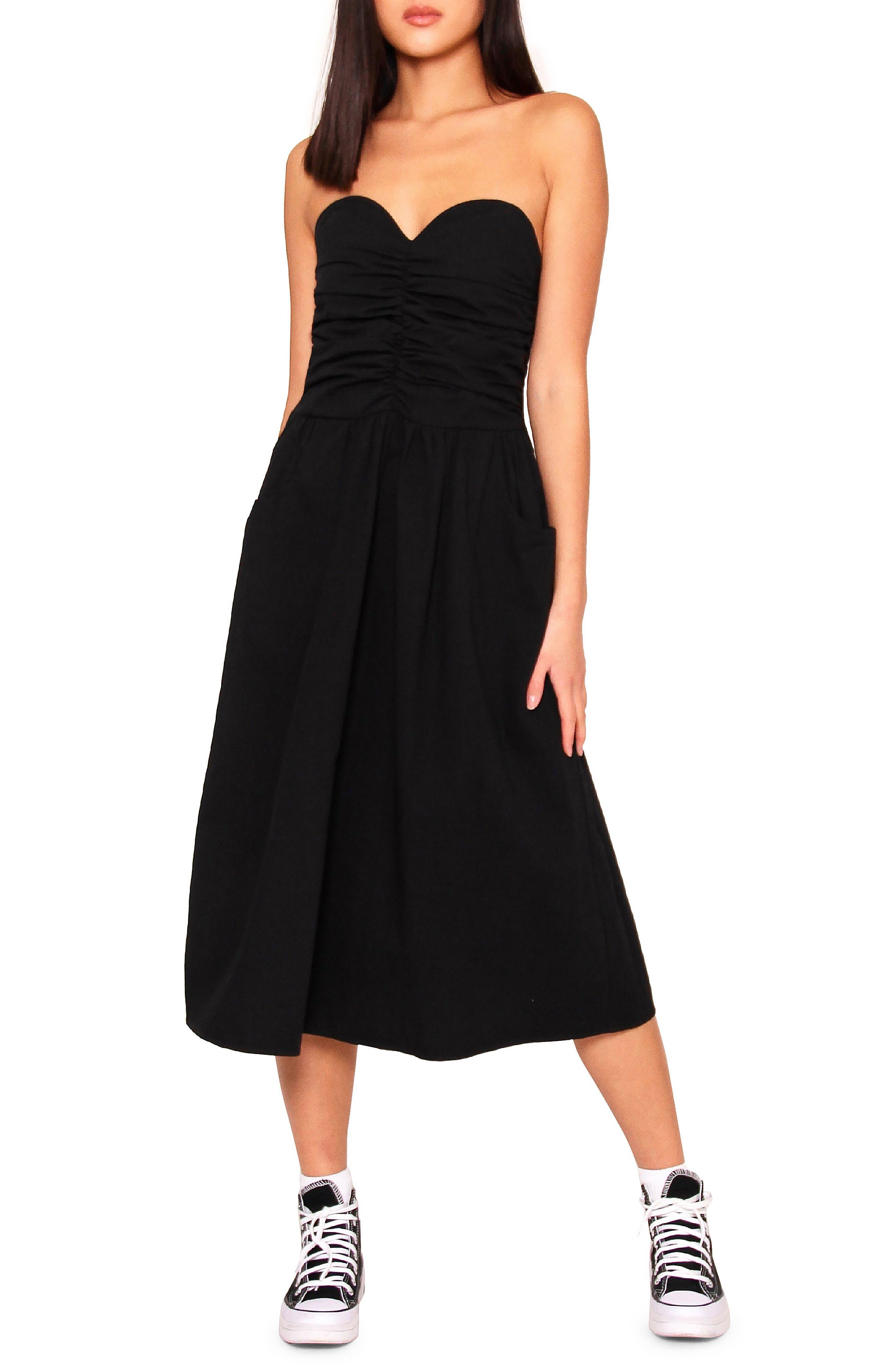 Bessy Strapless Midi Dress