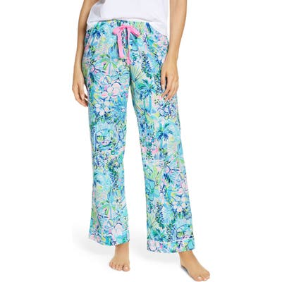 Lilly Pulitzer Woven Pajama Pants, Blue