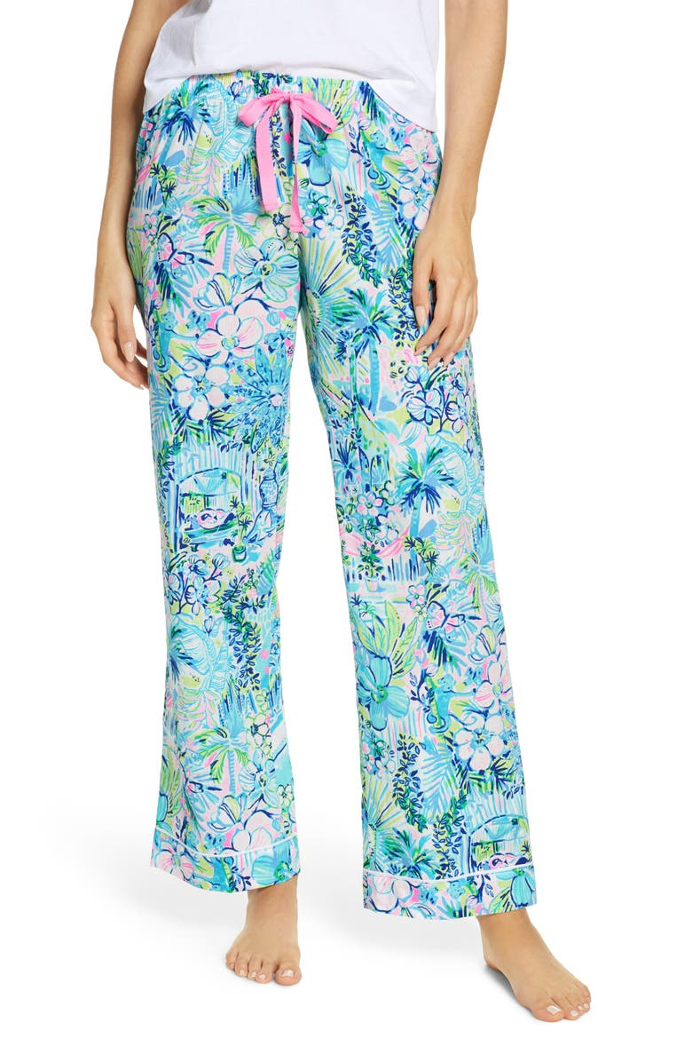 LILLY PULITZER<SUP>®</SUP> Woven Pajama Pants, Main, color, MULTI LILLYS HOUSE