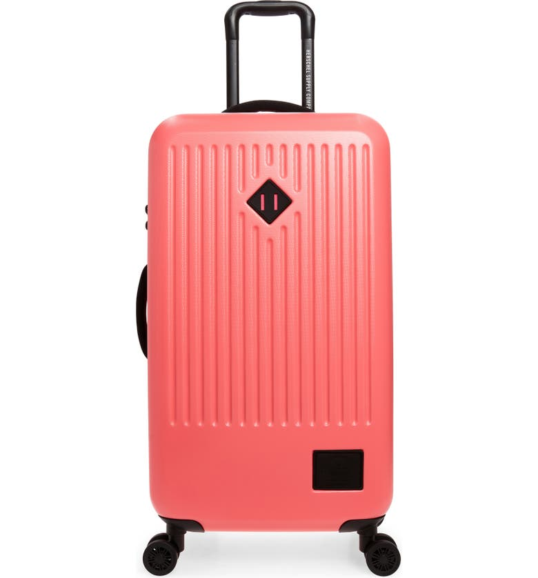 HERSCHEL SUPPLY CO. Medium Trade 29-Inch Rolling Suitcase, Main, color, NEON PINK