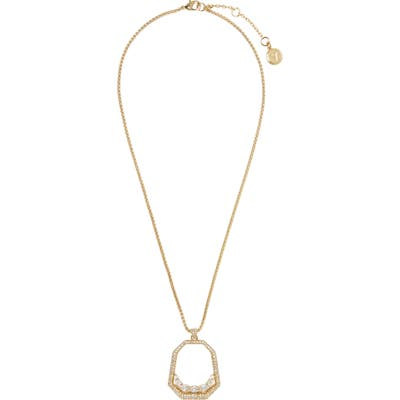 Vince Camuto Floating Crystal Open Pave Pendant Necklace