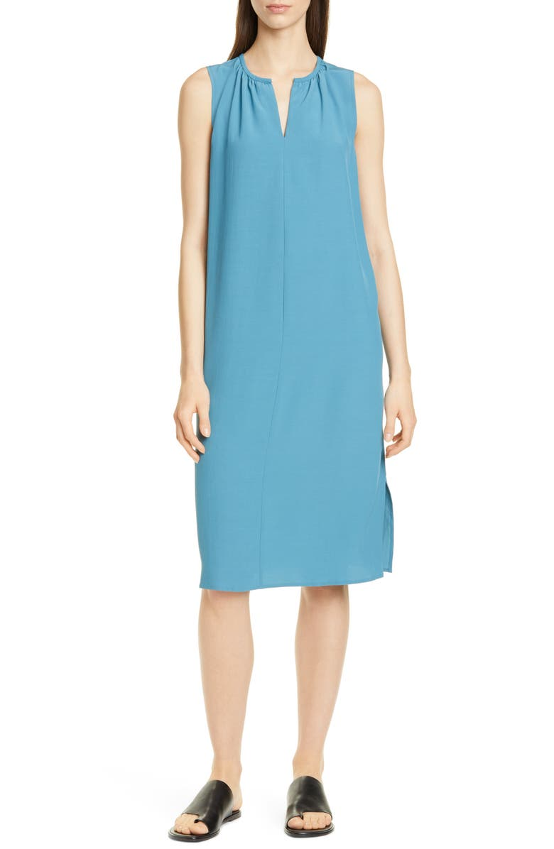 EILEEN FISHER Shift Dress, Main, color, RIVER