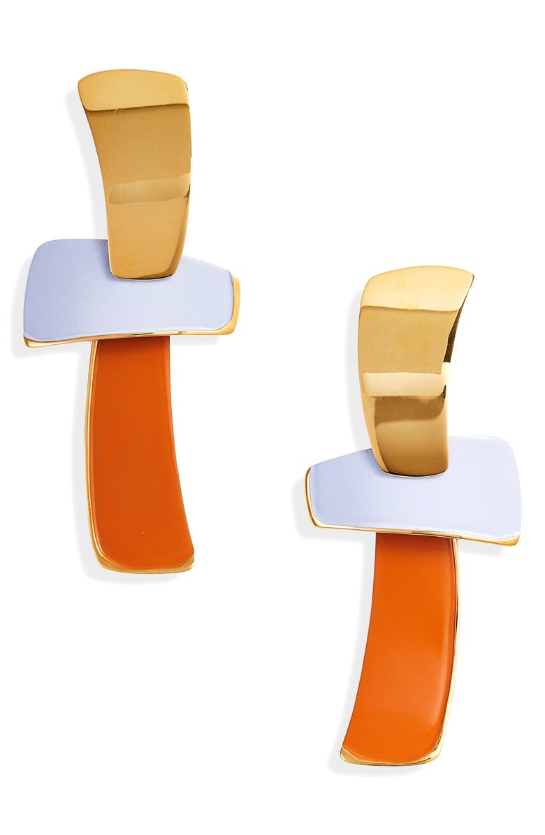 LIZZIE FORTUNATO Ernesto Statement Drop Earrings, Main, color, MULTI