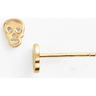 Syd By Sydney Evan Skull Earrings