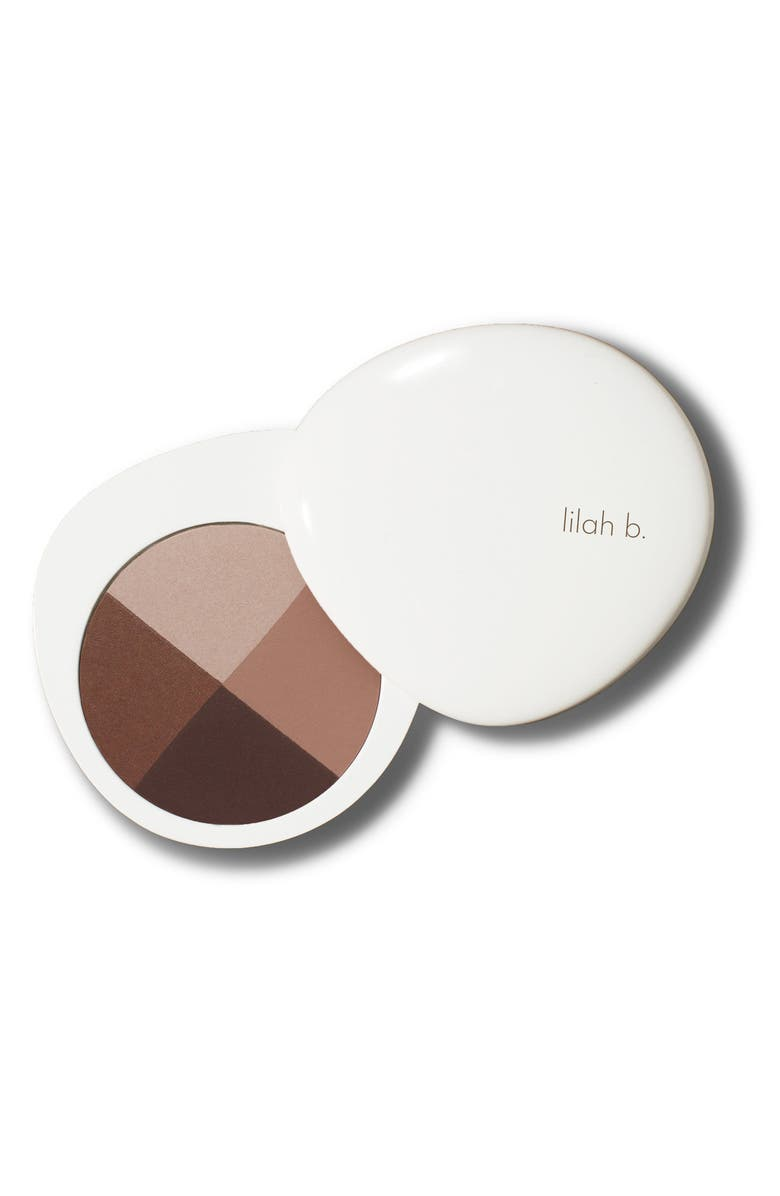 LILAH B. Palette Perfection Eye Quad, Main, color, B. STUNNING (NUDE PALETTE)
