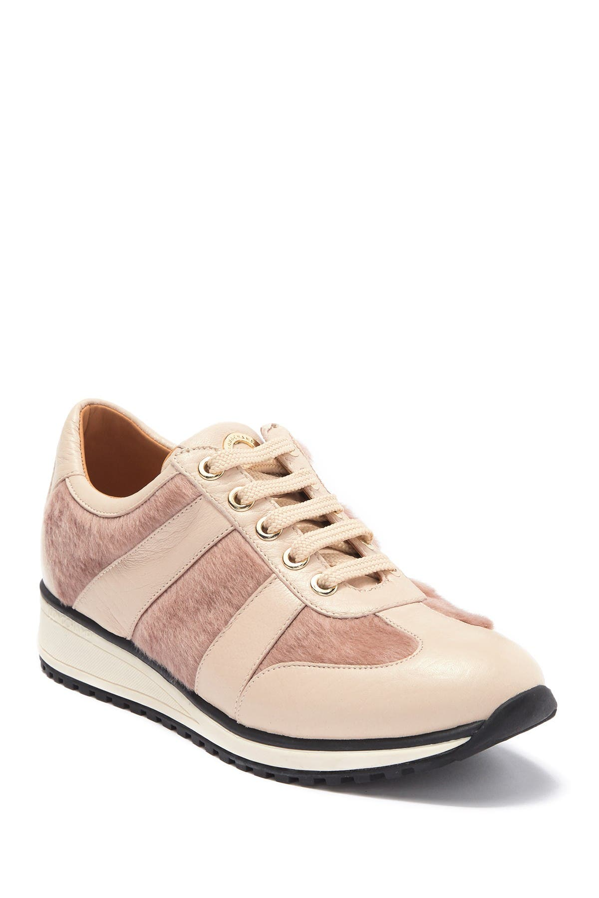 Image of LONGCHAMP Genuine Calf Hair & Leather Sneaker
