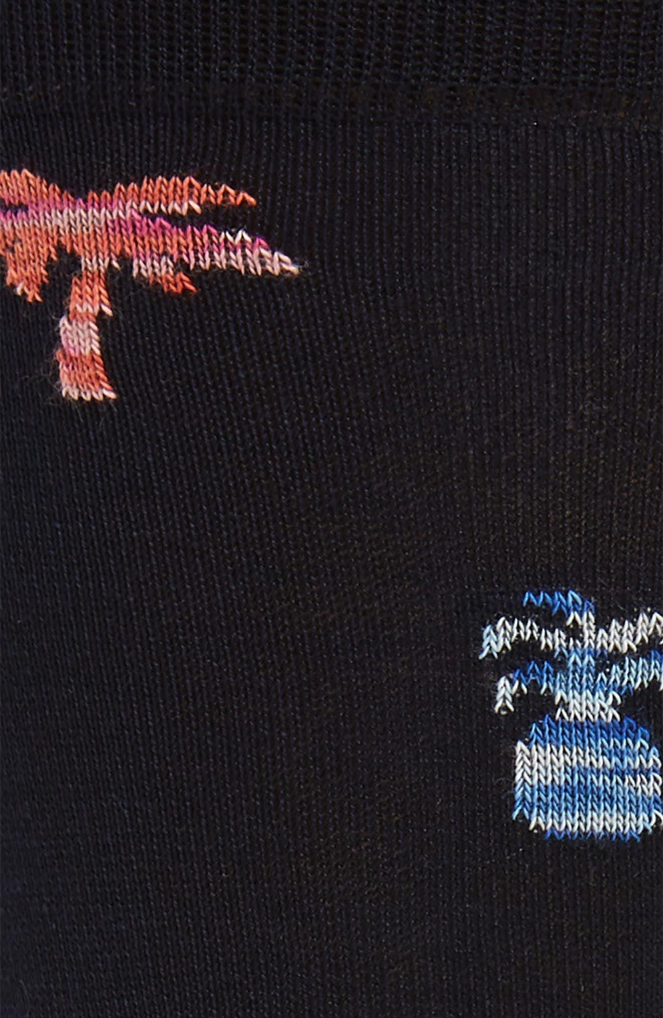 ,                             Patterned Mercerized Cotton Blend Socks,                             Alternate thumbnail 2, color,                             MIDNIGHT