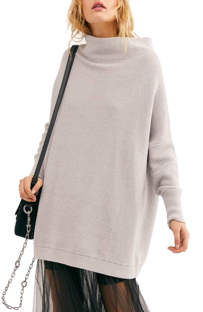 FREE PEOPLE Ottoman Slouchy Tunic, Main, color, GREY ICE