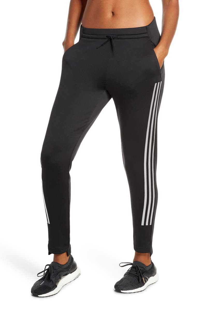 ADIDAS CLIMAWARM<sup>™</sup> 3-Stripes Pants, Main, color, 001