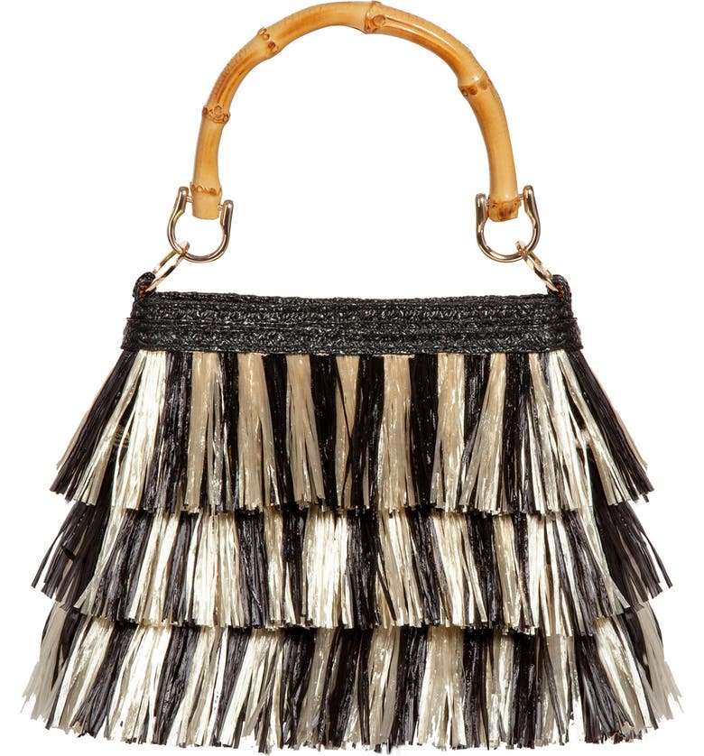 ERIC JAVITS Lil Mambo Handbag, Main, color, BLACK MIX