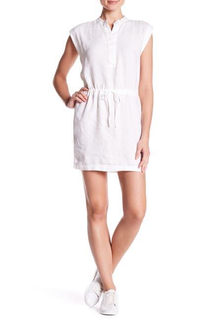 Image of James Perse Drawstring Waist Linen Dress