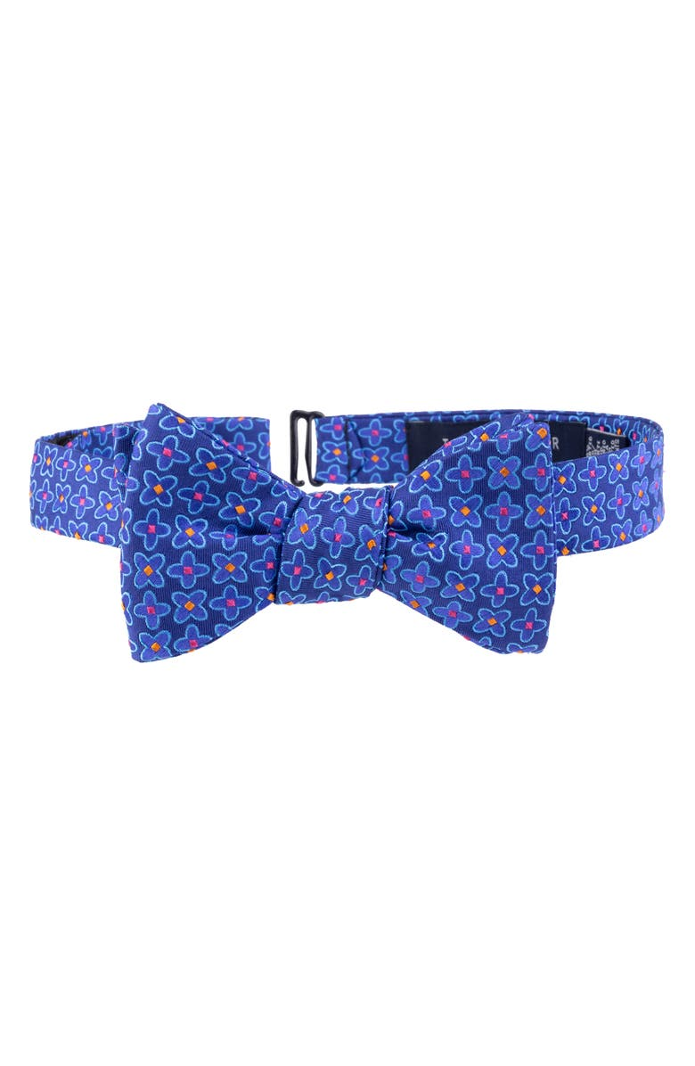 TED BAKER LONDON Frame Flower Silk Bow Tie, Main, color, NAVY