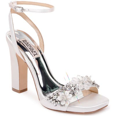 Badgley Mischka Alexa Ankle Strap Sandal- White