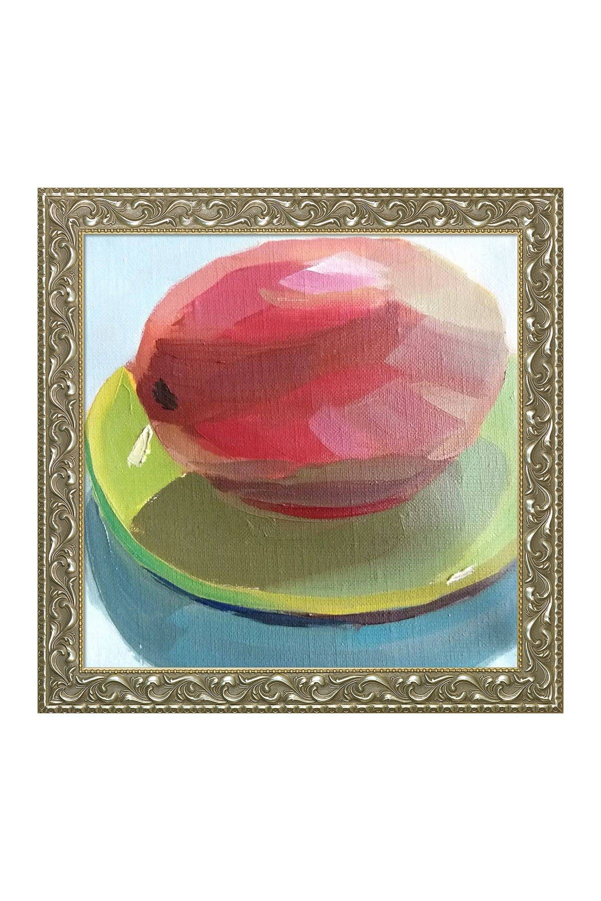 """Image of Overstock Art Mango with Rococo Silver Frame - 29.5"""" x 29.5"""""""
