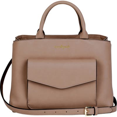 Urban Originals Spirit Vegan Leather Satchel - Beige